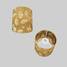 Drum Lamp Shade - P66 - Batik Leaf on Camel, 15cm(d) x 15cm(h)