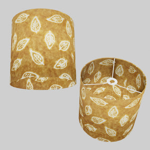 Drum Lamp Shade - P66 - Batik Leaf on Camel, 30cm(d) x 30cm(h)