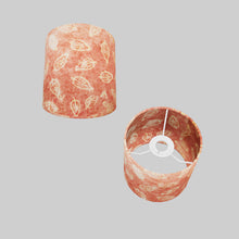 Drum Lamp Shade - P67 - Batik Leaf on Pink, 15cm(d) x 15cm(h)