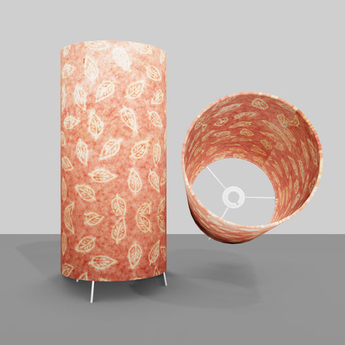 Free Standing Table Lamp Large - P67 ~ Batik Leaf on Pink