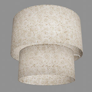 2 Tier Lamp Shade - P69 - Garden Gold on Natural, 40cm x 20cm & 30cm x 15cm