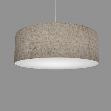Drum Lamp Shade - P69 - Garden Gold on Natural, 60cm(d) x 20cm(h)