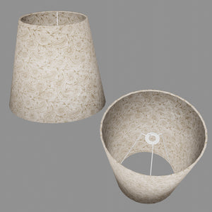 Conical Lamp Shade P69 - Garden Gold on Natural, 23cm(top) x 35cm(bottom) x 31cm(height)