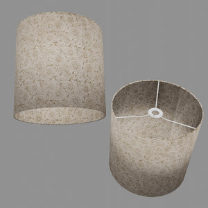 Drum Lamp Shade - P69 - Garden Gold on Natural, 30cm(d) x 30cm(h)