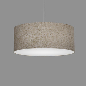 Drum Lamp Shade - P69 - Garden Gold on Natural, 50cm(d) x 20cm(h)