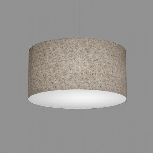 Drum Lamp Shade - P69 - Garden Gold on Natural, 50cm(d) x 25cm(h)