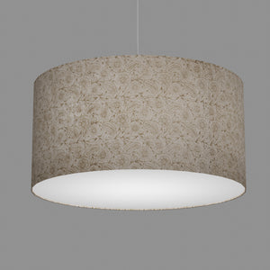 Drum Lamp Shade - P69 - Garden Gold on Natural, 60cm(d) x 30cm(h)