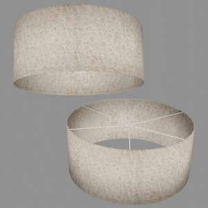Drum Lamp Shade - P69 - Garden Gold on Natural, 70cm(d) x 30cm(h)