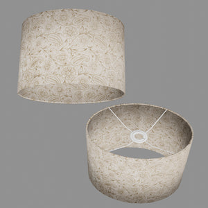 Oval Lamp Shade - P69 - Garden Gold on Natural, 30cm(w) x 20cm(h) x 22cm(d)