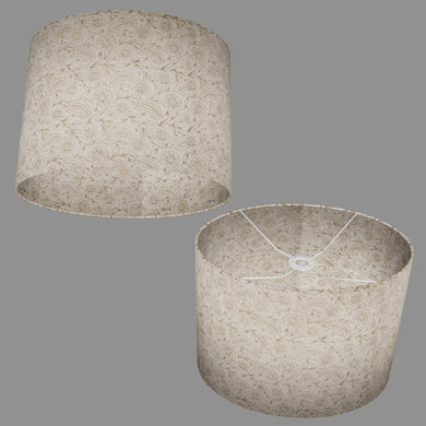 Oval Lamp Shade - P69 - Garden Gold on Natural, 40cm(w) x 30cm(h) x 30cm(d)