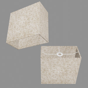 Rectangle Lamp Shade - P69 - Garden Gold on Natural, 30cm(w) x 30cm(h) x 15cm(d)