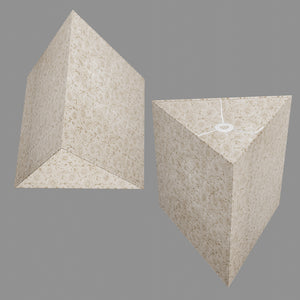 Triangle Lamp Shade - P69 - Garden Gold on Natural, 40cm(w) x 40cm(h)