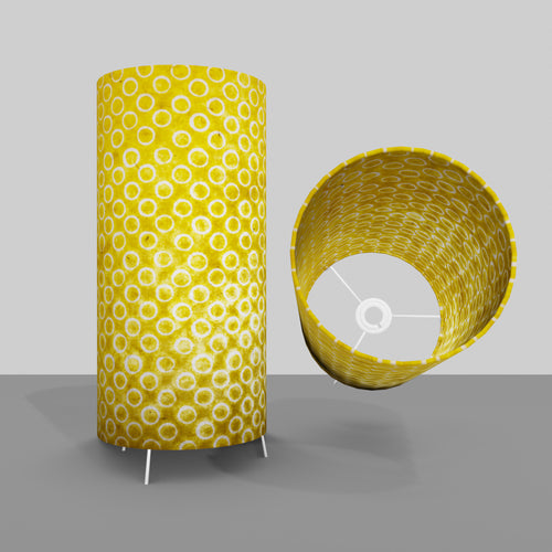 Free Standing Table Lamp Large - P71 ~ Batik Yellow Circles