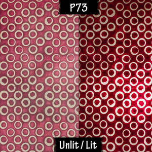 Rectangle Lamp Shade - P73 - Batik Red Circles, 30cm(w) x 20cm(h) x 15cm(d) - Imbue Lighting