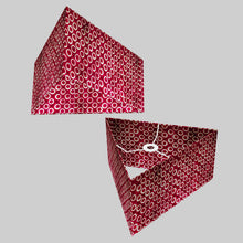 Triangle Lamp Shade - P73 - Batik Cranberry Circles, 40cm(w) x 20cm(h)