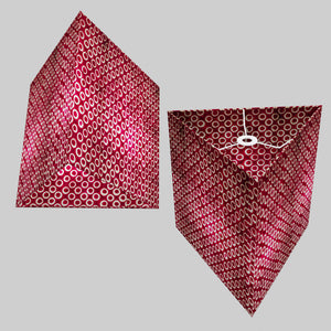 Triangle Lamp Shade - P73 - Batik Cranberry Circles, 40cm(w) x 40cm(h)