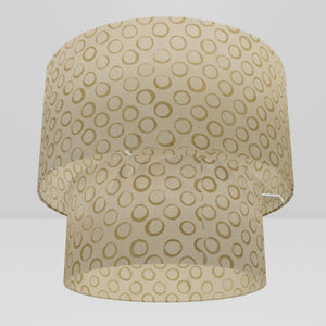 2 Tier Lamp Shade - P74 - Batik Natural Circles, 40cm x 20cm & 30cm x 15cm
