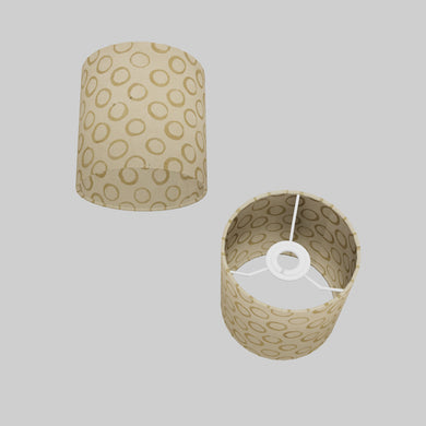 Drum Lamp Shade - P74 - Batik Natural Circles, 15cm(d) x 15cm(h)