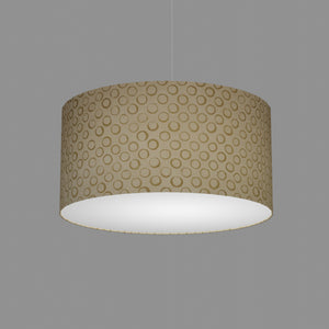 Drum Lamp Shade - P74 - Batik Natural Circles, 50cm(d) x 25cm(h)