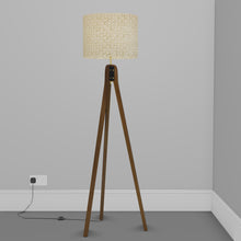 Sapele Tripod Floor Lamp - P74 - Batik Natural Circles