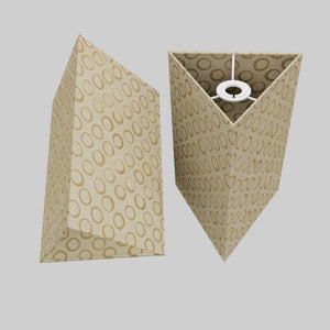 Triangle Lamp Shade - P74 - Batik Natural Circles, 20cm(w) x 30cm(h)