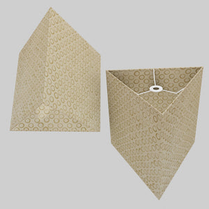 Triangle Lamp Shade - P74 - Batik Natural Circles, 40cm(w) x 40cm(h)