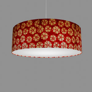 Drum Lamp Shade - P76 - Batik Star Flower Red, 60cm(d) x 20cm(h)