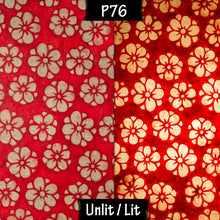 3 Panel Floor Lamp - P76 - Batik Star Flower Red, 20cm(d) x 1.4m(h)