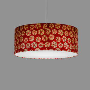 Drum Lamp Shade - P76 - Batik Star Flower Red, 50cm(d) x 20cm(h)