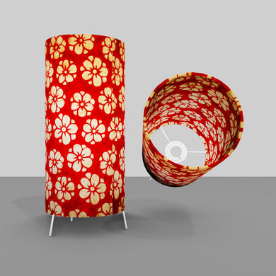 Free Standing Table Lamp Small - P76 ~ Batik Star Flower Red