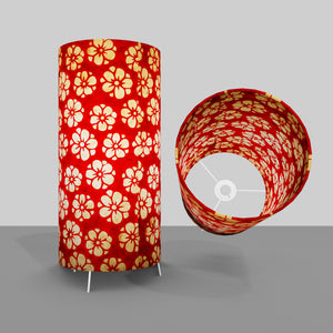 Free Standing Table Lamp Large - P76 ~ Batik Star Flower Red