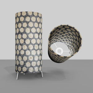 Free Standing Table Lamp Small - P78 ~ Batik Dots on Grey