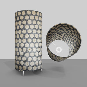 Free Standing Table Lamp Large - P78 ~ Batik Dots on Grey