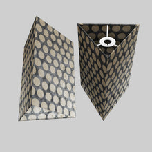 Triangle Lamp Shade - P78 - Batik Dots on Grey, 20cm(w) x 30cm(h)