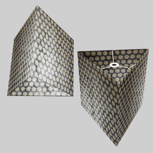 Triangle Lamp Shade - P78 - Batik Dots on Grey, 40cm(w) x 40cm(h)