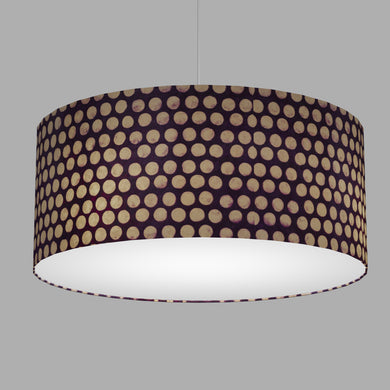 Drum Lamp Shade - P79 - Batik Dots Purple, 70cm(d) x 30cm(h)