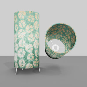 Free Standing Table Lamp Small - P80 ~ Batik Star Flower Mint Green