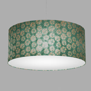 Drum Lamp Shade - P80 ~ Batik Star Flower Mint Green, 70cm(d) x 30cm(h)