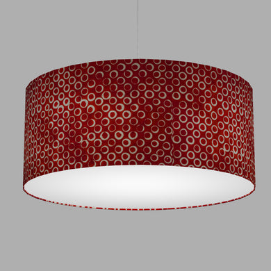 Drum Lamp Shade - P83 ~ Batik Red Circles, 70cm(d) x 30cm(h)