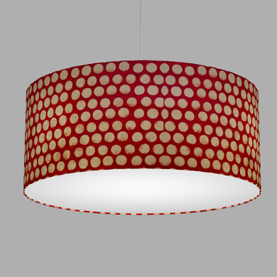Drum Lamp Shade - P84 ~ Batik Dots on Red, 70cm(d) x 30cm(h)