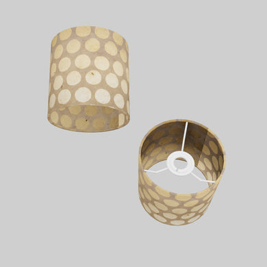 Drum Lamp Shade - P85 ~ Batik Dots on Natural, 15cm(d) x 15cm(h)