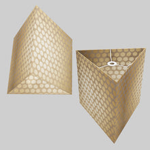 Triangle Lamp Shade - P85 ~ Batik Dots on Natural, 40cm(w) x 40cm(h)
