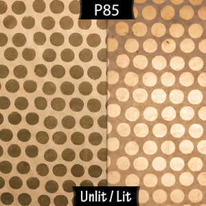 2 Tier Lamp Shade - P85 ~ Batik Dots on Natural, 40cm x 20cm & 30cm x 15cm