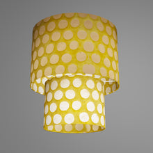2 Tier Lamp Shade - P86 ~ Batik Dots on Yellow, 30cm x 20cm & 20cm x 15cm