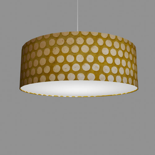 Drum Lamp Shade - P86 ~ Batik Dots on Yellow, 60cm(d) x 20cm(h)