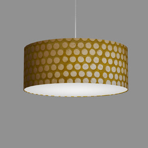 Drum Lamp Shade - P86 ~ Batik Dots on Yellow, 50cm(d) x 20cm(h)