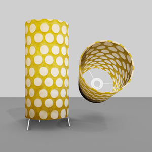 Free Standing Table Lamp Small - P86 ~ Batik Dots on Yellow