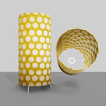 Free Standing Table Lamp Large - P86 ~ Batik Dots on Yellow