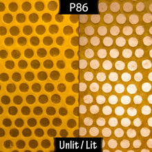 Conical Lamp Shade P86 ~ Batik Dots on Yellow, 23cm(top) x 35cm(bottom) x 31cm(height)