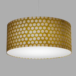 Drum Lamp Shade - P86 ~ Batik Dots on Yellow, 70cm(d) x 30cm(h)